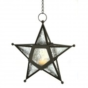 Candle Lantern-Glass Star