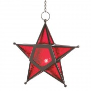Candle Lantern - Glass Star