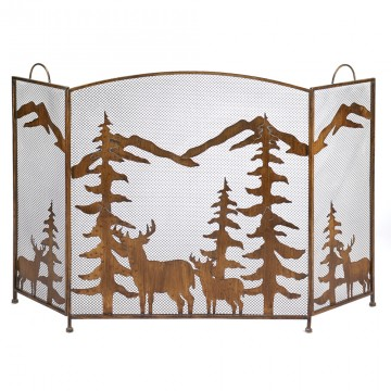Fireplace Screen - Magical Forest