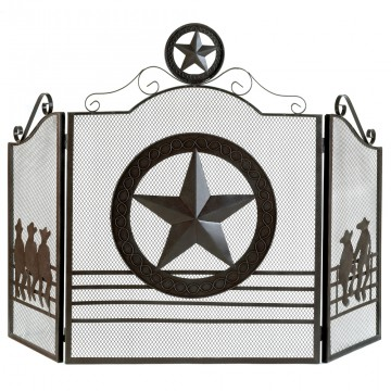 Fireplace Screen-Lone Star
