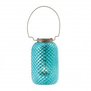 Candle Lantern-Diamond Blue