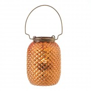 Candle Lantern-Diamond Amber