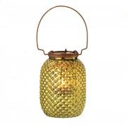 Candle Lantern-Diamond Green