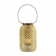 Candle Lantern-Diamond Gold