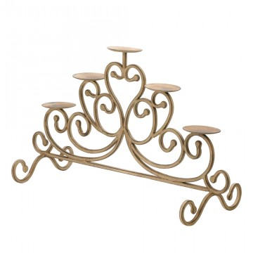 Candle Stand - Antiqued Iron