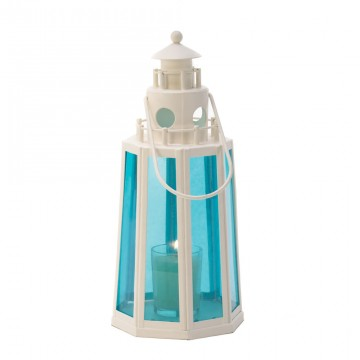 Lighthouse Candle Lamp - Ocean Blue