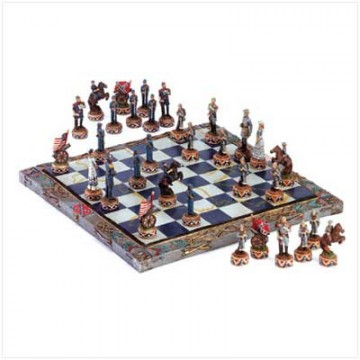 Chess Set-Civil War