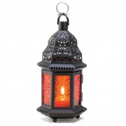 Candle Lantern-Moroccan Amber