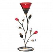 Tealight Holder-Ruby Blossom